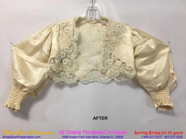 120 year old Wedding Gown Restoration
